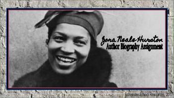 Zora Neale Hurston: Author Biography Assignment