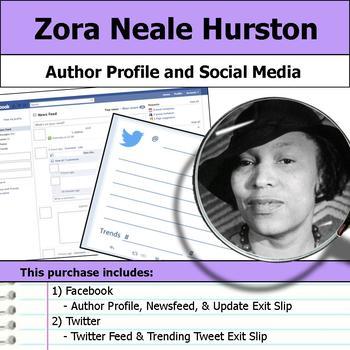 Zora Neale Hurston - Author Study - Profile and Social Media
