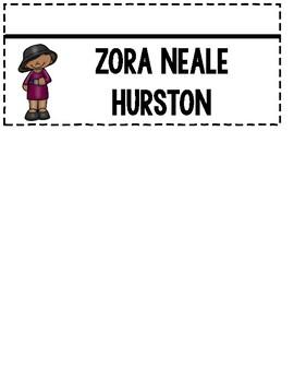Zora Neale Hurston Black History Month Flipbook Craftivity Biography Activity