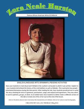 Zora Neale Hurston Folktale Wrtiting & Proofreading Lesson