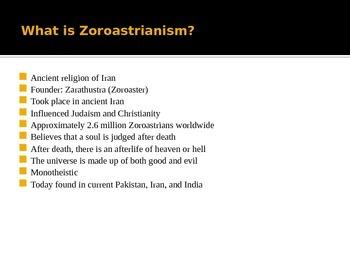 Zoroastrian PowerPoint