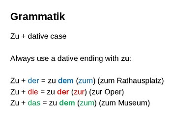 Zu with the dative case