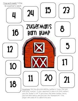 Zuckerman's Barn Bump, Charlotte's Web Math Game