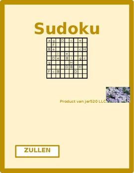 Zullen Dutch verb Present tense Sudoku