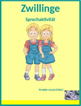 Familie (Family in German) Zwillinge Twins speaking activity