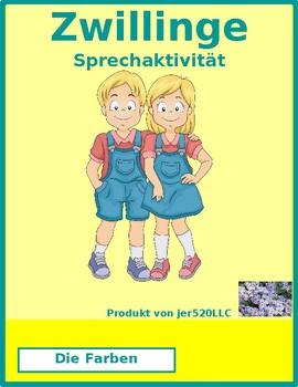 Farben (Colors in German) Zwillinge Twins speaking activity