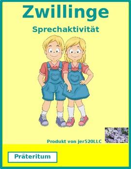 Präteritum regular German verbs Zwillinge Twins Speaking activity