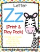 Letter Zz {Print & Play Pack}