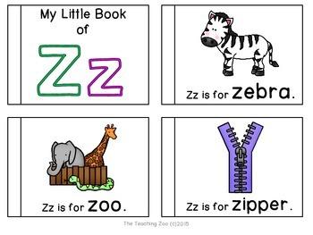 Letter of the Week Readers - Z z is for Zebra