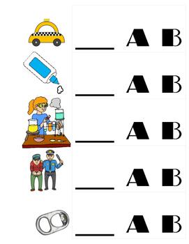_AB Family CVC words file folder activity