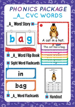 '_A_ CVC WORDS' Phonics Lesson Package