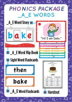 '_A_E WORDS' Phonics Lesson Package