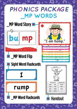 '_MP WORDS' Phonics Lesson Package