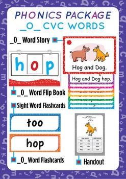 '_O_ CVC WORDS' Phonics Lesson Package