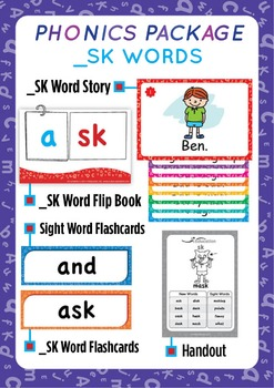 '_SK WORDS' Phonics Lesson Package