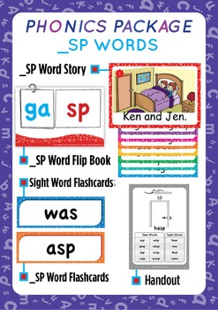 '_SP WORDS' Phonics Lesson Package