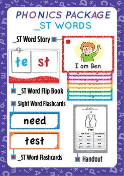 '_ST WORDS' Phonics Lesson Package