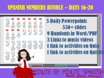 _Spanish Lessons for Numbers  90% TL and TCI Bundle 3 - Days 16 - 20