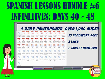 _Spanish Lessons for 90% TL and TCI Bundle 6 - Days 40-48 Infinitives