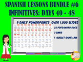 306 Spanish Lessons for 90% TL and TCI Bundle 6 - Days 40-