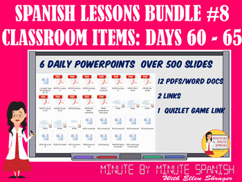 _Spanish Lessons for 90% TL and TCI Bundle 8 - Days 60 - 65 Classroom Items