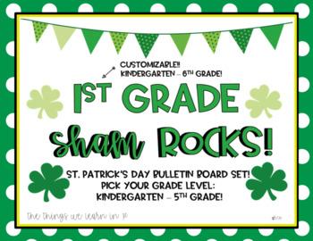 __ Grade ShamROCKS!  Pick Your Grade Level!  Bulletin Board Set! St Pat's Day!