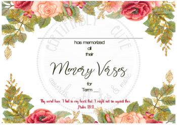 __ has Memorised all the Memory Verses for Term __ -- FREE!!