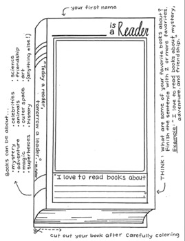 __ is a Reader: Reading Interest Decor + Student Photo