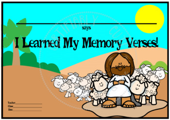 ___ Says I Learned My Memory Verses! --FREE!!