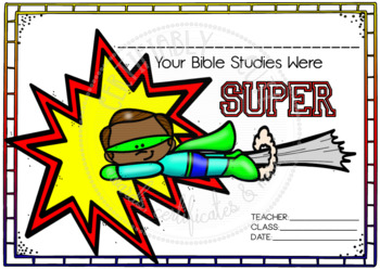 Your Bible Studies were Super -- FREE!! by Certifiably Cute | TpT