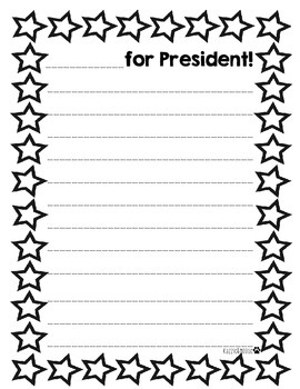 *_____ for President* posters/ writing activity