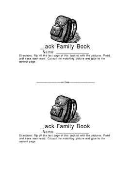 _ack Family Word Book