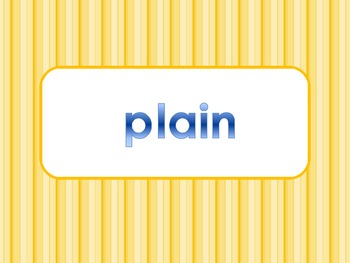 _ain Word Family PowerPoint  for K, 1st or 2nd Reading Phonics(Common Core)