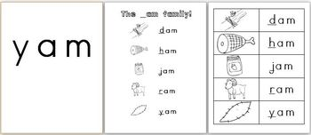 _am Word Family pack