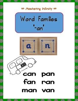 """_an"" Word Families--The ""an"" Van"