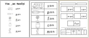 _an Word Family pack