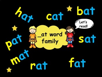 _at word family words
