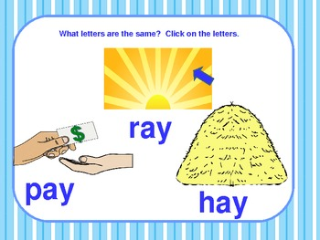 _ay Word Family PowerPoint  for K, 1st or 2nd Reading Phonics
