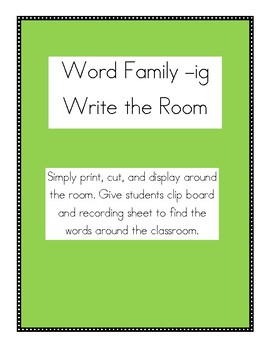 _ig word family write the room