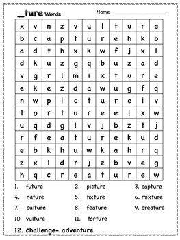 _ture Suffix Word Search