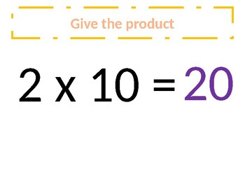 a. Common Core – Multiplication of 10s - Around the world