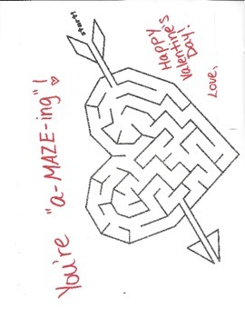 a-MAZE-ing Valentine's Day Note to Students