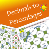 a-Mazing Mazes:  Converting Decimals to Percents