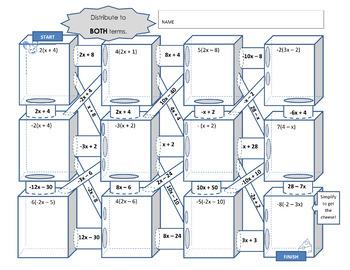 a-Mazing Mazes: Distributive Property