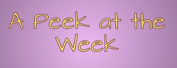 a Peek at the Week {EDITABLE}