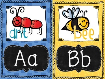 a Rainbow, Chalkboard Alphabet and Word Wall featuring the Mellonheadz