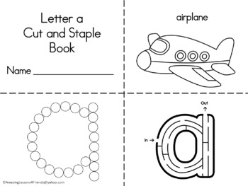 a Thru z Cut and Staple Books Lowercase Letters