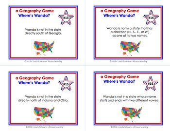 a U.S. GEOGRAPHY GAME • WHERE'S WANDA? • GRADES 4–6