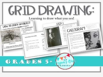 Grid Drawing a Portrait project