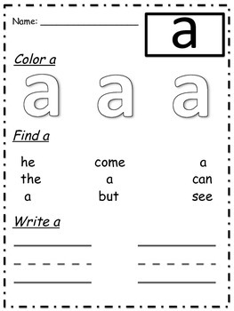 a, it Sight Word Practice